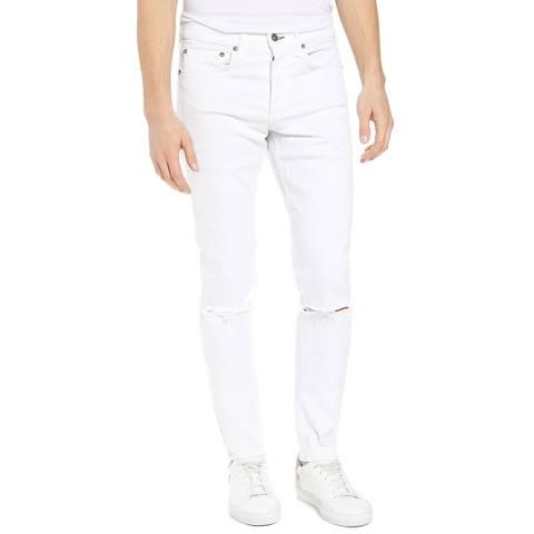 Rag & Bone White Distressed Skinny Stretch Jeans