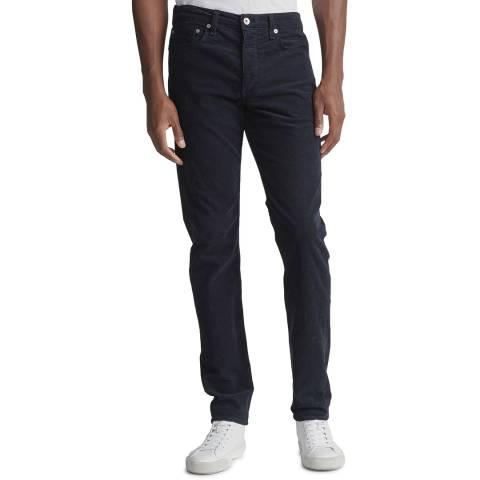 Rag & Bone Navy Cord Slim Stretch Trousers