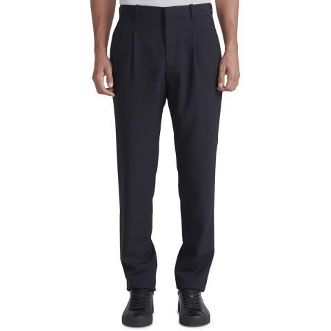 Rag & Bone Navy Blade Tapered Wool Trousers