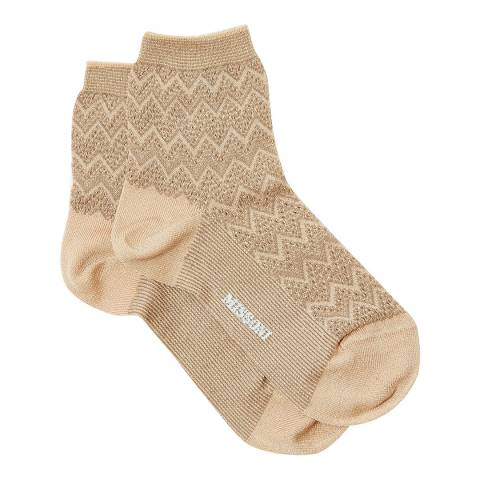 Missoni Beige Short Socks