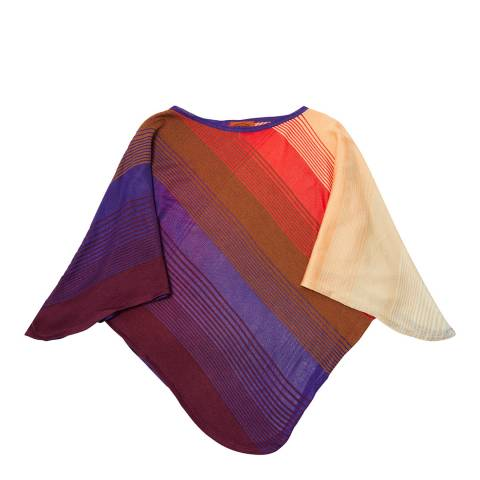 Missoni Brown Stripe Poncho