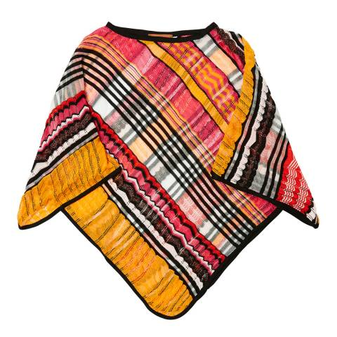 Missoni Orange Check Poncho