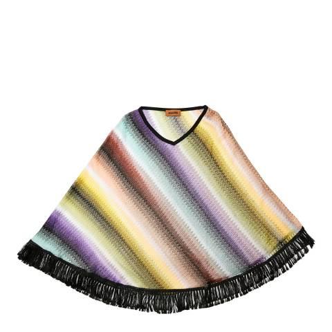 Missoni Purple Diagonal Stripe Poncho