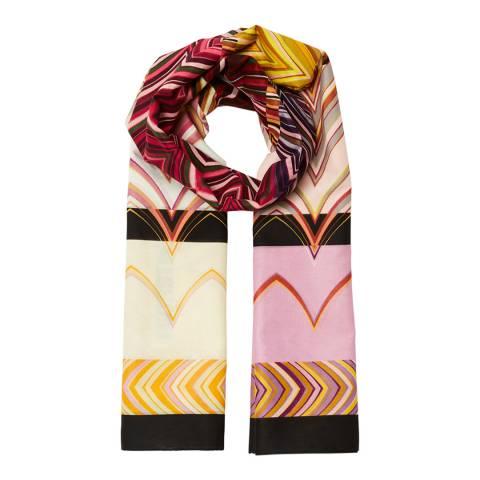 Missoni Pink Multi Patterned Silk Scarf