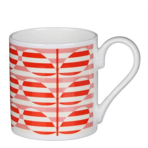 Orla Kiely Set of 2 Orange Stripe Stems Mugs