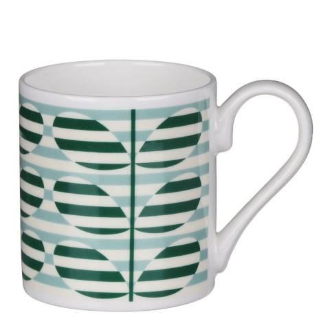 Orla Kiely Set of 2 Green Stripe Stems Mugs