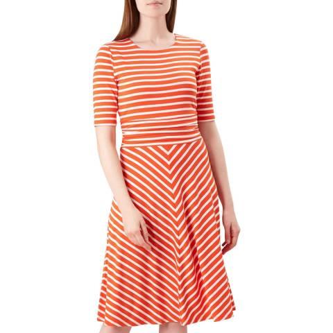Hobbs London Orange Stripe Bayview Dress