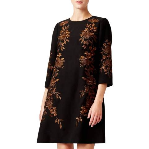 Hobbs London Black Floral Lynn Dress