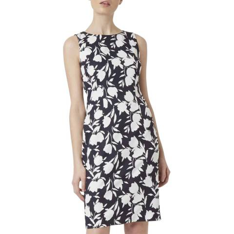 Hobbs London Navy Print Moira Shift Dress