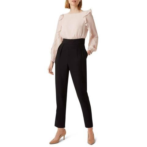 Hobbs London Black/Pink Colourblock Aubree Jumpsuit