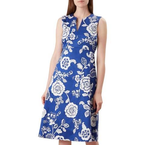 Hobbs London Blue Floral Lauren Dress