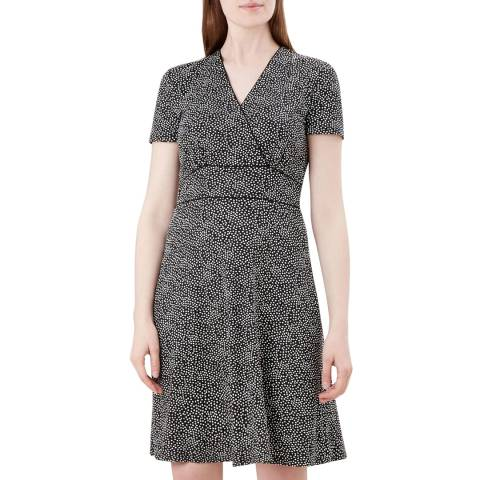 Hobbs London Black Print Darcie Dress
