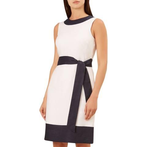 Hobbs London White Amalfi Linen Dress