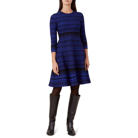 Hobbs London Blue Print Joelle Dress