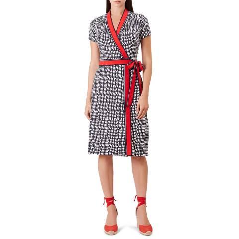 Hobbs London Blue Print Sahara Dress