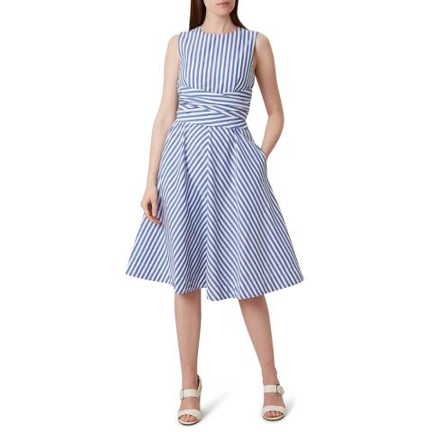 Hobbs London Blue Stripe Twitchill Dress