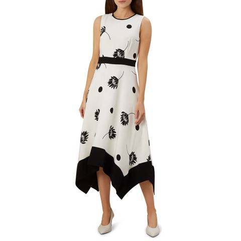 Hobbs London Ivory Floral Lucie Dress