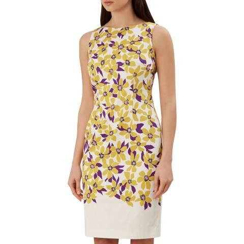 Hobbs London Yellow Floral Fiona Dress