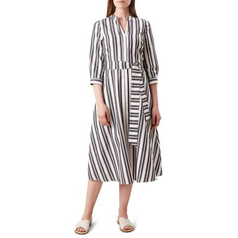 Hobbs London Navy Stripe Leanna Dress