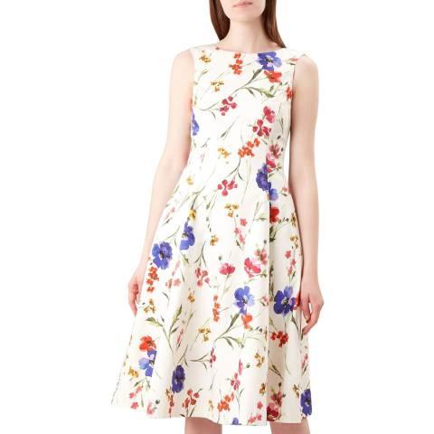 Hobbs London White Floral Cleo Dress