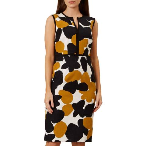 Hobbs London Black Print Tabitha Dress