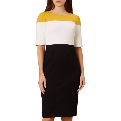 Hobbs London Black Colourblock Marietta Dress