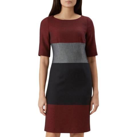 Hobbs London Navy Colourblock Jemima Dress