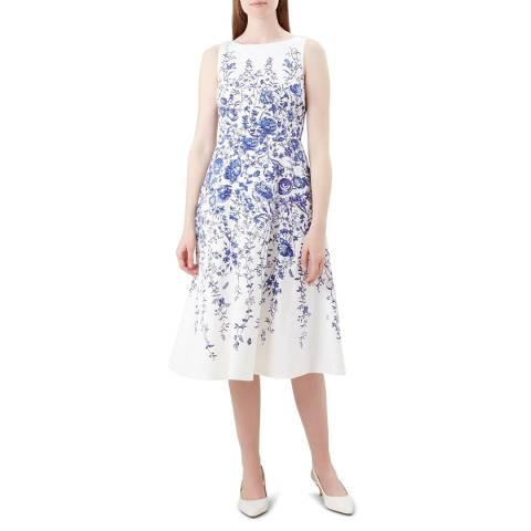Hobbs London Ivory Floral Evelyn Dress