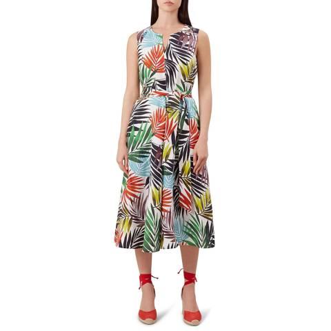 Hobbs London Multi Print Amalfi Linen Dress