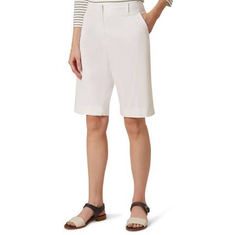 Hobbs London White Bay Stretch Shorts