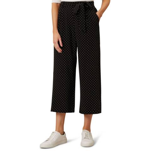 Hobbs London Black Dot Penny Trousers