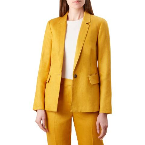 Hobbs London Yellow Anthea Linen Jacket