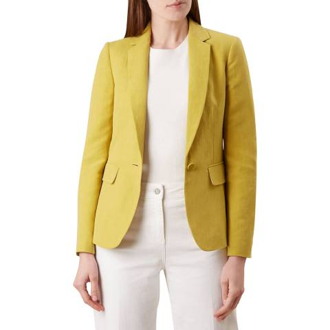 Hobbs London Yellow Trent Silk Blend Jacket
