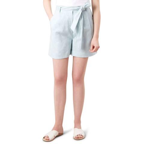 Hobbs London Sky Blue Tie Waist Shorts