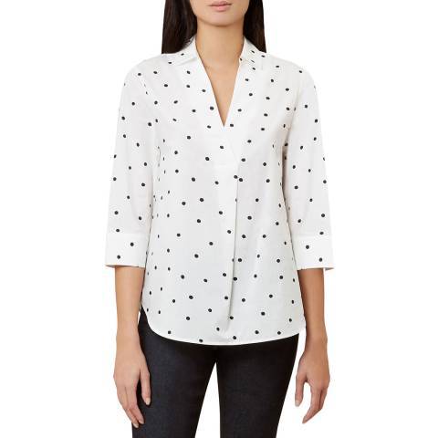 Hobbs London Ivory Dot Mina Top