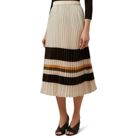 Hobbs London Ivory Pleated Zoe Skirt