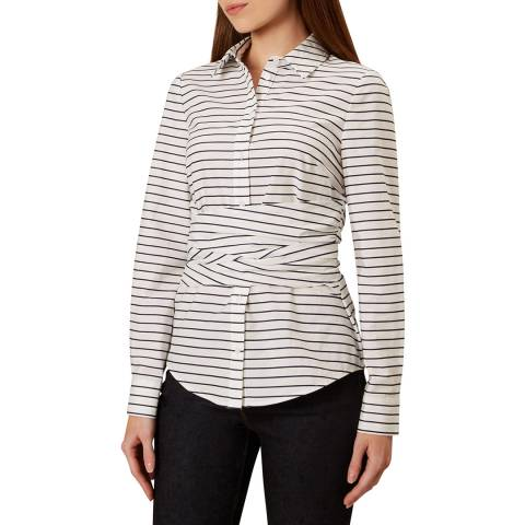 Hobbs London White Stripe Angelica Shirt