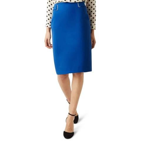 Hobbs London Blue Iana Pencil Skirt