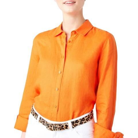 Hobbs London Orange Kristina Linen Shirt