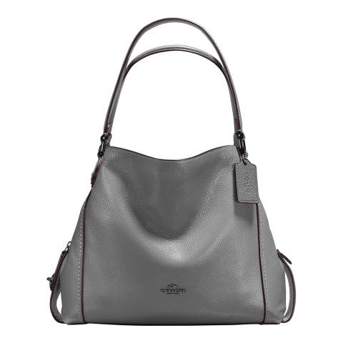 Coach Heather Grey Pebble Edie 31 Shoulder Bag