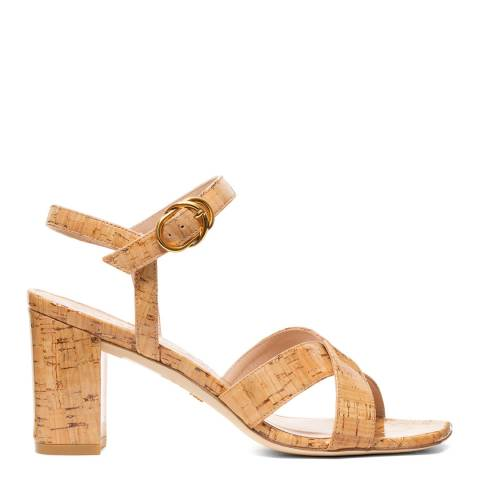 Stuart Weitzman Natural Cork Analeigh Sandal