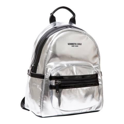 Kenneth Cole Silver Metallic Kam Backpack