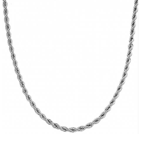 Stephen Oliver Silver Plated Twist Chain Necklace