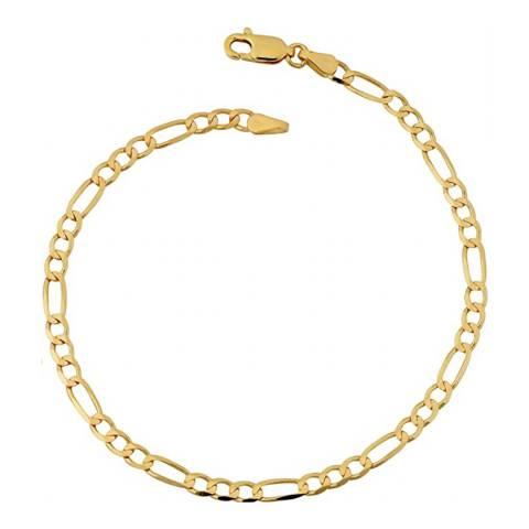 Stephen Oliver 18K Gold Plated Chain Figaro Link Bracelet