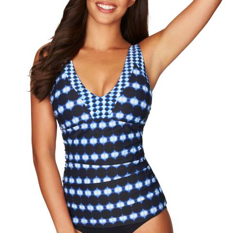 Sea Level Navy Bandhani Tank Style D/DD Cup Singlet Top