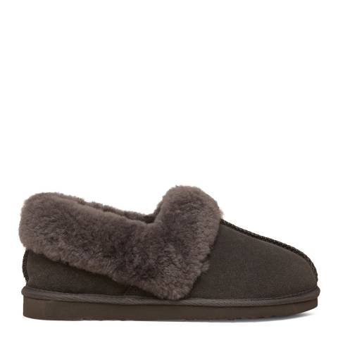 N°· Eleven Grey Sheepskin Slippers