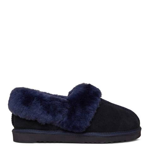 N°· Eleven Navy Sheepskin Slippers