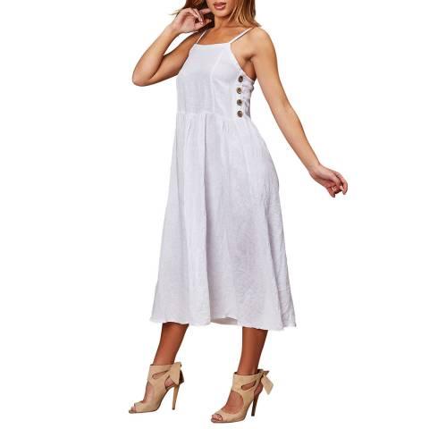 LE MONDE DU LIN White Summer Linen Maxi Dress