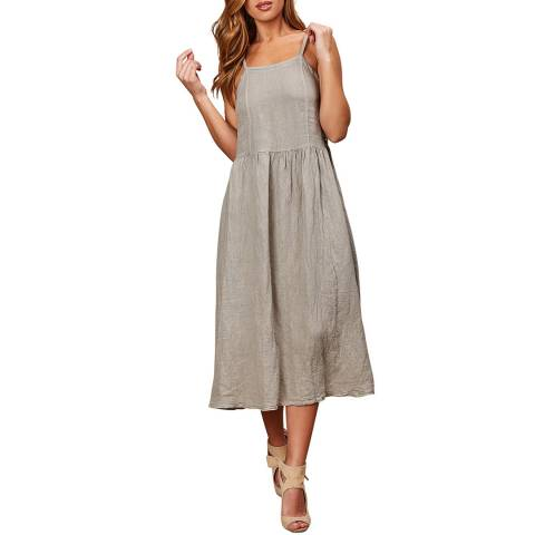LE MONDE DU LIN Beige Summer Linen Maxi Dress