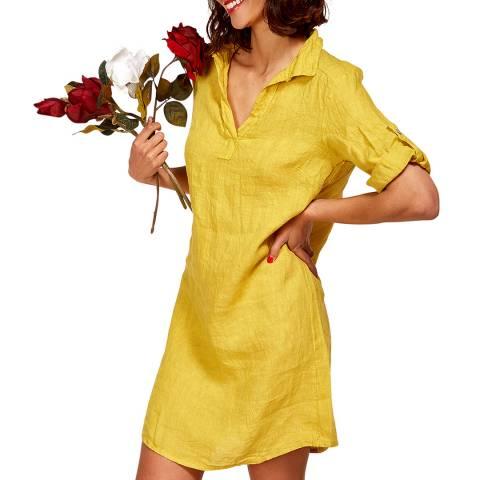 LE MONDE DU LIN Red Mini Length Linen Dress
